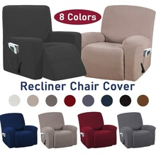 8 Colors Recliner Chair Covers Washable Stretch Sofa Slipcovers With Pocket Non slip Furniture Protector Solid