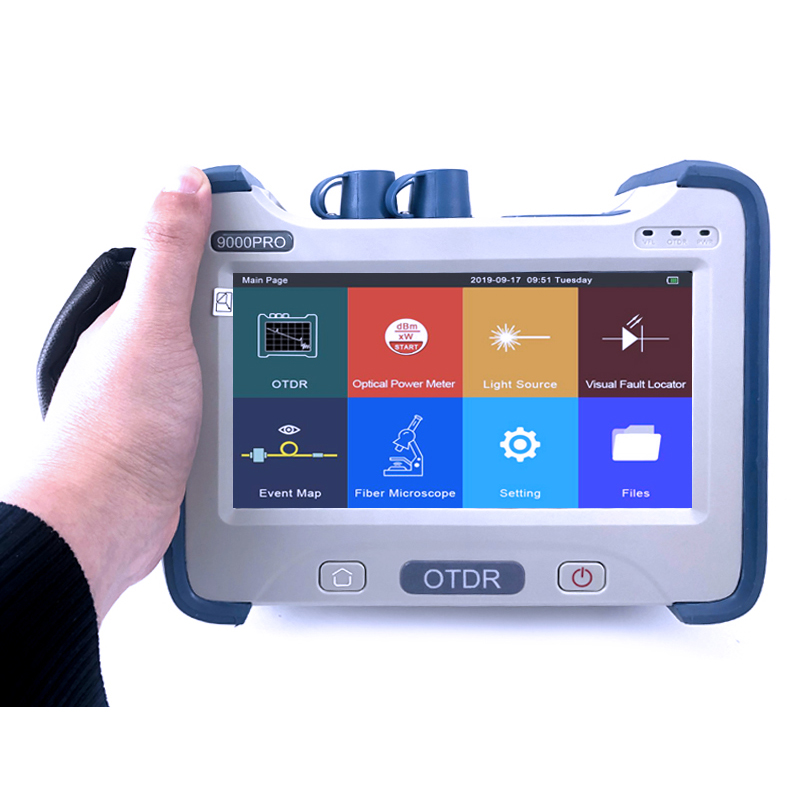 FirstFiber 9000PRO Fiber Optic OTDR Reflectometer With OPM OLS VFL Event Map Touch Screen Fibra Optica Fibre Optique
