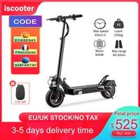 Iscooter-patinete eléctrico para adulto, 48V, 13Ah, máximo 45 km/h, 10 pulgadas, actualización de neumáticos todoterreno, batería de Motor potente de 500W, ix4, con bolsa gratis