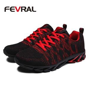 Image 3 - FEVRAL ماركة 2020 الصيف تنفس الرجال أحذية رياضية الكبار أحمر أزرق أخضر جودة عالية مريحة عدم الانزلاق لينة حذاء رجالي