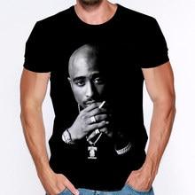 Camisas masculinas 2pac tupac moda raper moda masculina casual camiseta roupas estéticas gráfico 3d impresso t camisa streetwear topos
