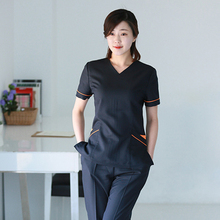 Корейский ортопедических медсестра костюм сплит косметолог работа больничную одежду стоматологические