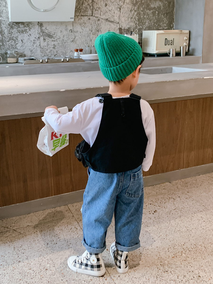 Boys' Fashion Vest Waistcoat Small Vest 2021 Spring and Autumn Wear Thin Western Style Children's Suit 4