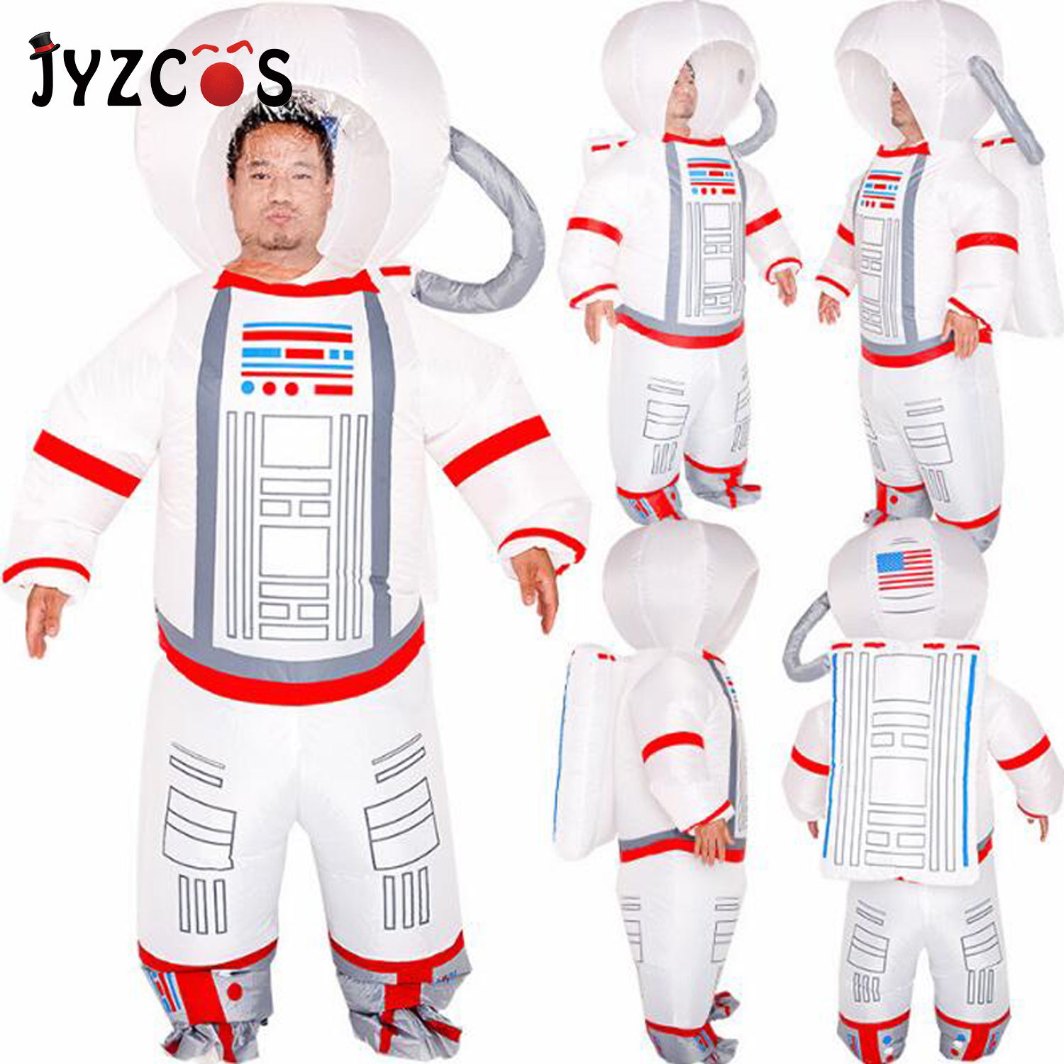 JYZCOS New Christmas Funny Purim Pilot Inflatable Suit Inflatable Astronaut Halloween Cospaly Costume Party Supplies For Adult