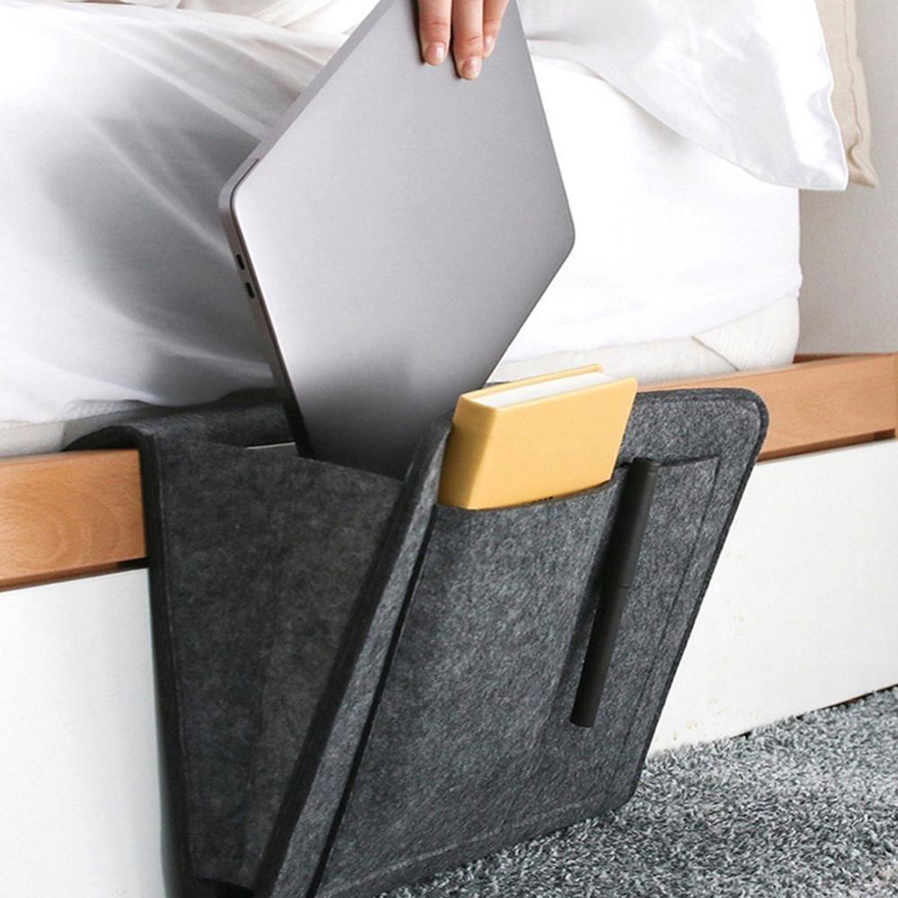 Felt bedside storage bag bedroom bedside storage blanket hanging bag Sofa Organizer Pockets Book Holder Pockets