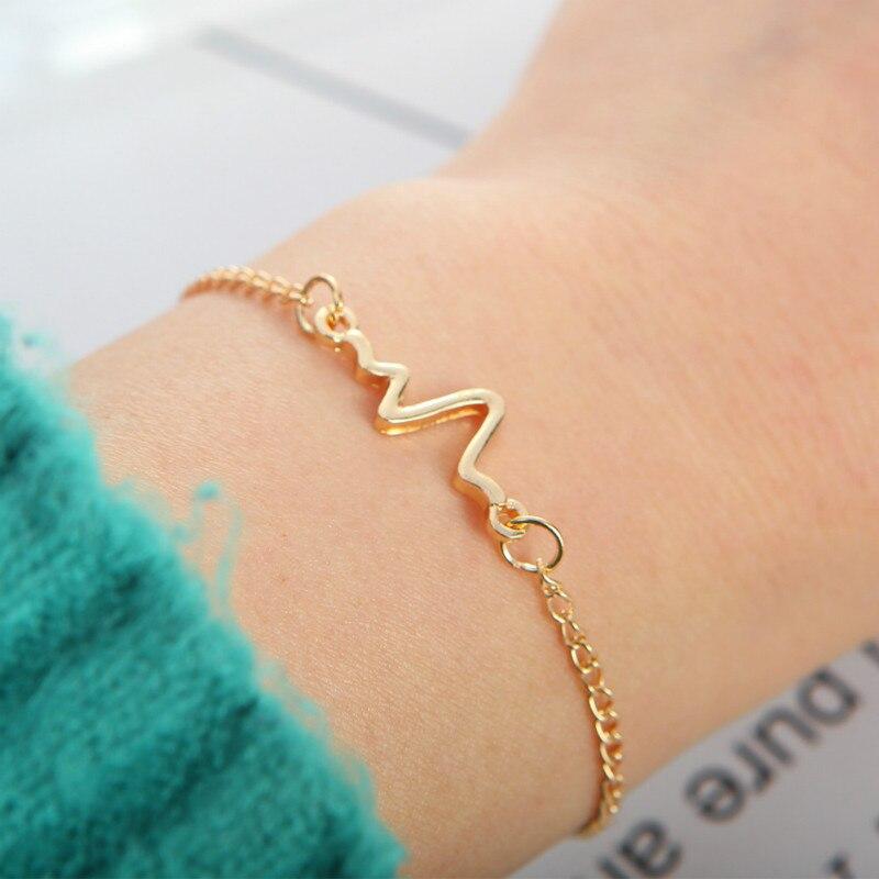 1 Pcs Temperament Electrocardiogram Bracelet Party Favors for Bracelet Valentines Day Presents Guests Party Favor Souvenir(China)