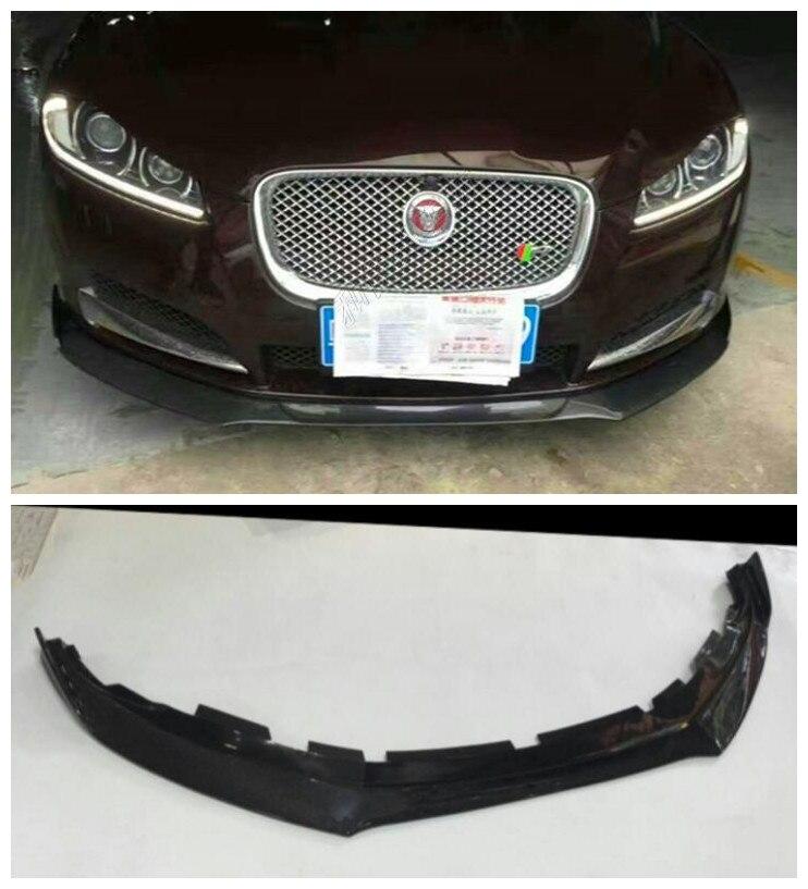 Carbon Fiber Car Bumper Front Lip Protector Fits For Jaguar XF 2009 2010 2011 2012 2013 2014 2015