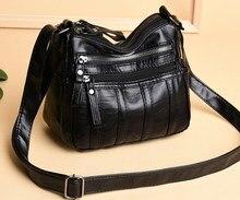 купить Women Shoulder Bags  For Ladies Crossbody Bags Simple Fashion Female Handbag Soft Small Leather Bag 2019 дешево