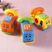 1 pçs brinquedos do bebê música dos desenhos animados ônibus telefone educacional desenvolvimento crianças brinquedo presente crianças exercício de aprendizagem precoce bebê crianças jogo