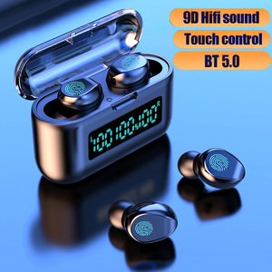 Image 5 - F9 38 TWS Headphones True Wireless Earphones Bluetooth 5.0 Stereo Earbuds with Mic Touch Control LED Digital Display Deep Bass