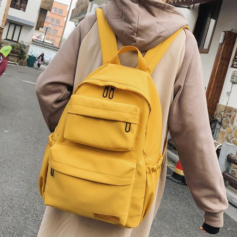 New Waterproof Nylon Backpack For Women Travel Backpacks Schoolobag School Bag Teenage Girls Book Bag Mochilas For Female 2019