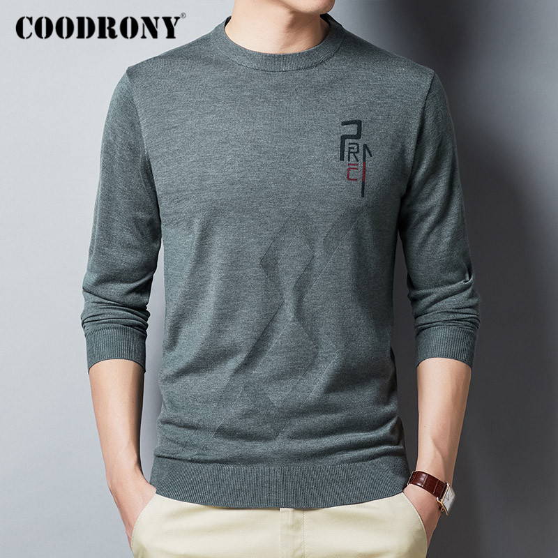COODRONY Brand Sweater Men Spring Autumn Casual O-Neck Pullover Men Clothes Fashion Thin Knitwear Pull Homme Cotton Shirt C1030