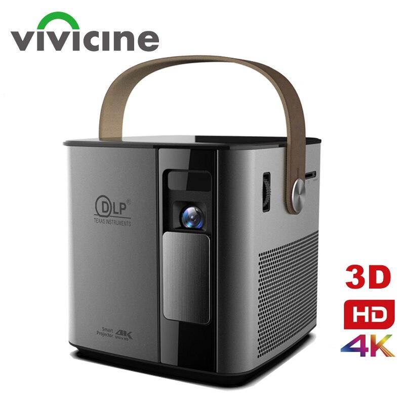Vivicine plus récent P12 3D 4K projecteur, Android WIFI HDMI USB 1080p Full HD Home cinéma Proyector 12000 mAh batterie Beamer