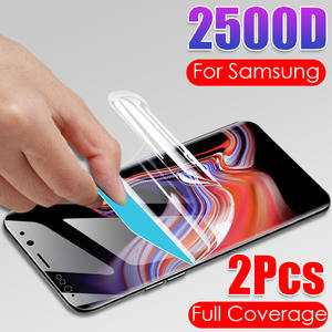 2Pcs 2500D Hydrogel Film For Samsung Galaxy S20 Ultra Note 10 Plus S10 S10E Pro Screen Protector S8 S9 Soft Film Not Glass