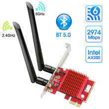 Intel Ax200 Wifi Adapter 5 Ghz Wifi Adapter Ax200ngw Antenne Wifi 6 Wi-fi Dongle 5 Ghz Bluetooth Netwerkkaart pci Express Voor Pc