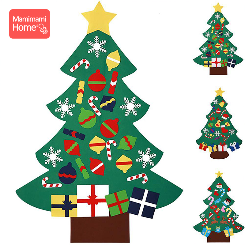 1pc Felt Christmas Tree Baby DIY Toys New Year Gifts Artificial Tree  Hanging Ornaments Christmas Decoration Children's Goods