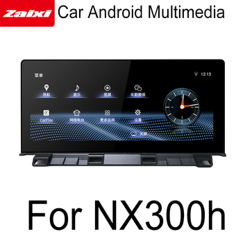 ZaiXi Android For Lexus NX 300h NX300h 2018-2019 GPS Touch Screen Multimedia Player Stereo Autoradio navigation original style