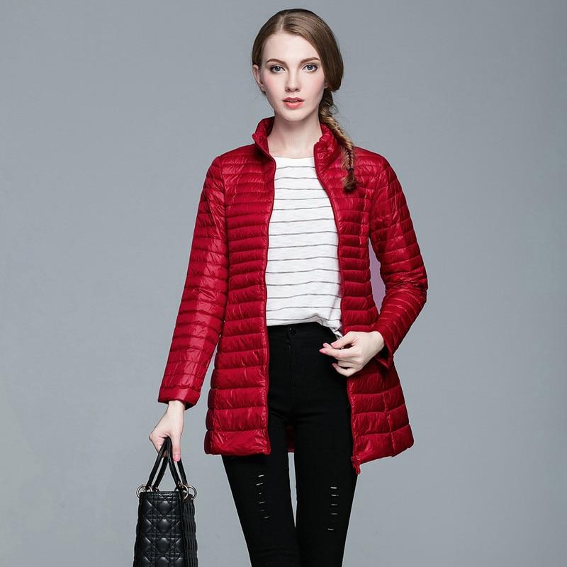 Size Plus Female Light Down Jacket Women Autumn Winter Korean Jackets For Women Duck Down Coat Chaqueta Mujer KJ402 S