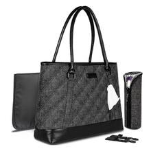 New Mummy bag shoulder handbag leather bottom scratch-resistant wear-resistant 4 piece set outdoor baby stroller
