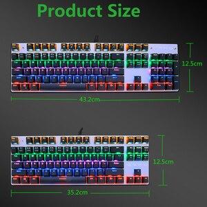 Image 3 - METOO X51 X52 Mechanical Gaming Keyboard LED Backlit 104/87 Keys Anti GhostingBlack Red Blue Switches for DOTA 2 Gamer PC Laptop