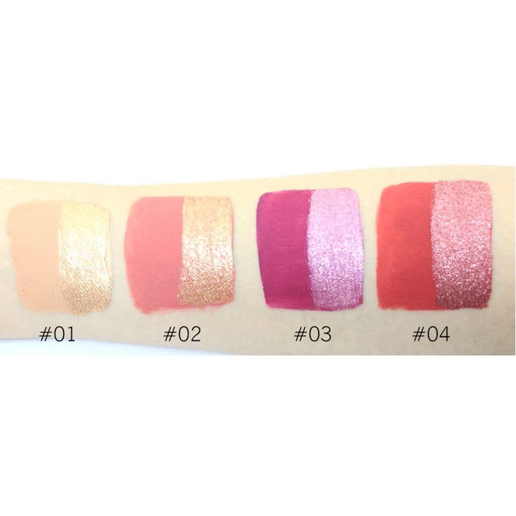 Double head Liquid Eyeshadow Is Not Blooming Monochromatic Lip Glaze Eyshadow Matte And Metal Multi purpose