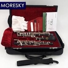 MORESKY profesional C clave de Oboe semiautomática estilo cuproníquel nickelplate MORESKY Oboe S01