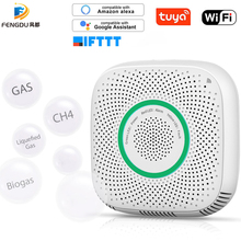 High sensitivity Tuya Wifi Gas Leak Detector Fire Security Alarm Safety Smart Home Leakage Lpg Sensor