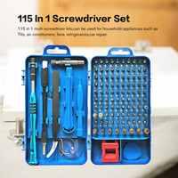 110 en 1 précision tournevis Kit accessoires ensemble pour iPhone ordinateur portable PC montre CR-V en acier Mini bricolage main travail réparation outils