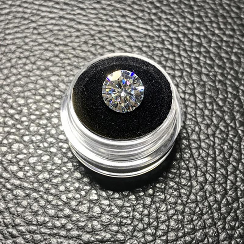Moissanite en vrac 1.5 carat 7.5mm EF couleur pierre gemme excellente taille brillant Moissanite clarté VVS1 forme ronde