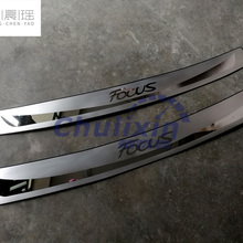Арьергарды из нержавеющей стали Задний бампер протектор автомобиля Стайлинг автомобильные аксессуары для 2012- Ford Focus 3 MK3 Защитная педаль