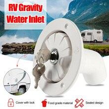 Water Locking Inlet Hatch Filler Cap White for Caravan Motorhome Fresh RV Camping Trailer Drain Tank Caps
