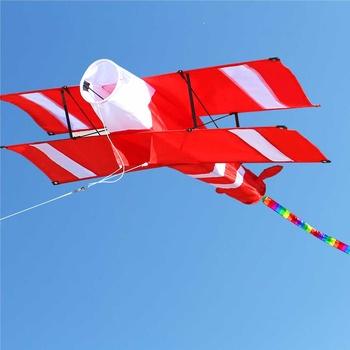 Nowa wysokiej jakości 3D pojedyncza głowica czerwona żółta latawce sportowa plaża z uchwytem latawca i sznurkiem łatwe do latania tanie i dobre opinie LBLA Poliester