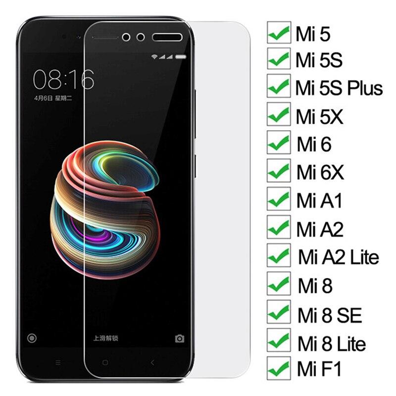 9D Tempered Glass For Xiaomi Mi 5 5S Plus 5X 6 6X A1 A2 Lite Screen Protector Mi 8 SE 8 Lite Pocopho