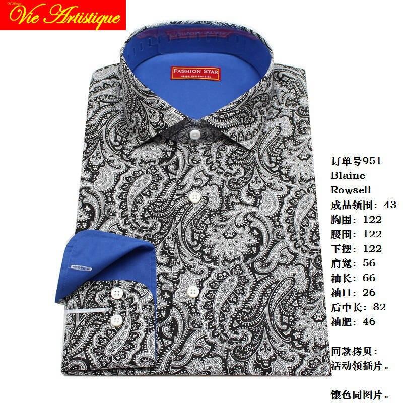 Sur mesure Pour Hommes sur mesure chemises florale coton formel d'affaires de mariage articles chemisier gris paisley fleur mode david
