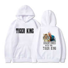Tiger king printed sweatshirt kawaii casual men and women hoodies streetwear fun men and women hoodie men cut and sew panel hoodie