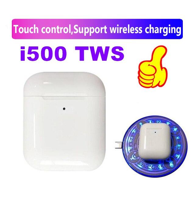 I500 TWS segunda gerações 5D Réplica 1:1 fone de Ouvido Sem Fio Super Bass pk i20 i30 i60 i80 i100 i200 i300 tws para todos os smartphones