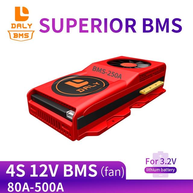 12V LiFePO4 BMS 4S 80A 100A 500A סוללה לוח 18650 מטען PCB BMS עבור תרגיל מנוע 14.6V סטנדרטי/לשפר/איזון עם מאוורר