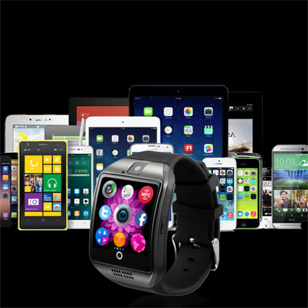 2019 Q18 Bluetoth Smart Watch GSM Camera TF Card Phone Wrist Watch for Android Phone Electronic Wrist Watches Smartwatch