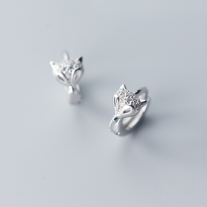 Женские серьги-кольца с лисой MloveAcc, из стерлингового серебра 925 пробы, модные ювелирные украшения для помолвки
