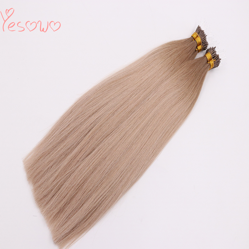 Yesowo 2019 New Arrival Salon Plastic I Tip Extensions 1g/strand Ombre Brazilian Remy Human Hair Keratin Extension Hair