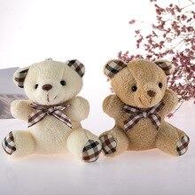 Cute Teddy Bear Keychain Girl Bag Pendant Bow Tie Teddy Bear Pendant Little Bear Doll Toy