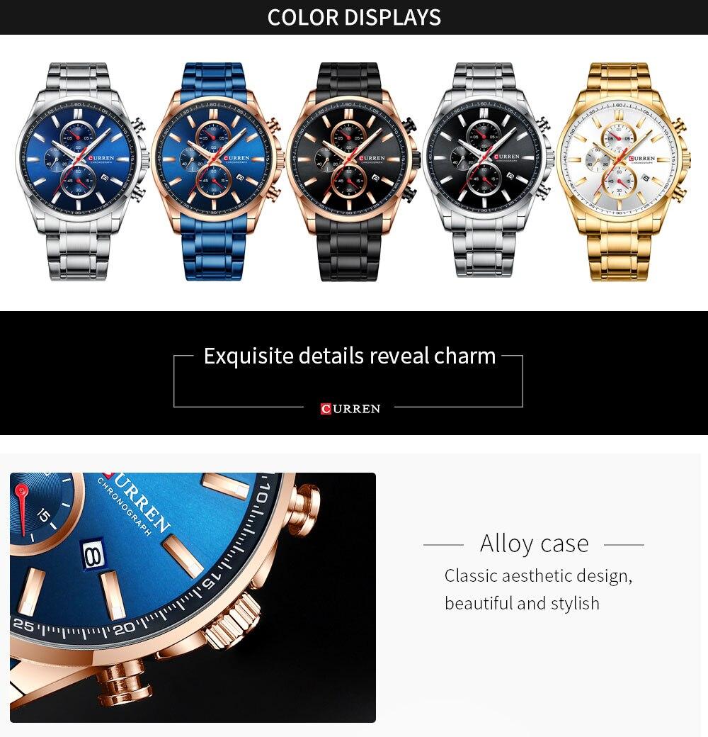 da marca luxo quartzo homem relógio de