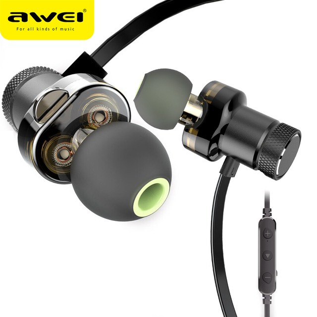 AWEI T13 Bluetooth אוזניות כפולה נהג אלחוטי אוזניות Hi Fi סטריאו קול אוזניות אוזניות עם מיקרופון Fone דה ouvido עבור טלפון