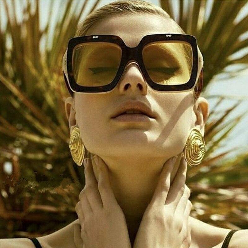 Винтажные женские солнцезащитные очки с большой оправой, роскошные сексуальные солнцезащитные очки для мужчин, для вождения, рыбалки, модный козырек, очки Suqare|Водительские очки|   | АлиЭкспресс