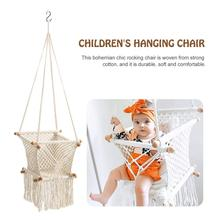 Baby Hanging Swing Seat Hammock Chair Home Decoration Baby Cribs Cotton Woven Rope Swing Garden Hanging Hammock