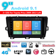 Mirror-Link Gps-Wifi Toyota for Prius Left 9''-Ram 2GB-ROM 32GB Car-Stereo Radio BT DAB