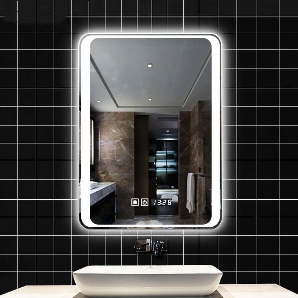 Smart Mirror Led Bathroom Mirror Wall Bathroom Mirror Bathroom Toilet Fog Light Mirror With Touch Screen Lo6111151 Bath Mirrors Aliexpress