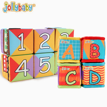 Toy Blocks Cloth Puzzle Building Alphanumeric Early-Education Jollybay Girls Infants