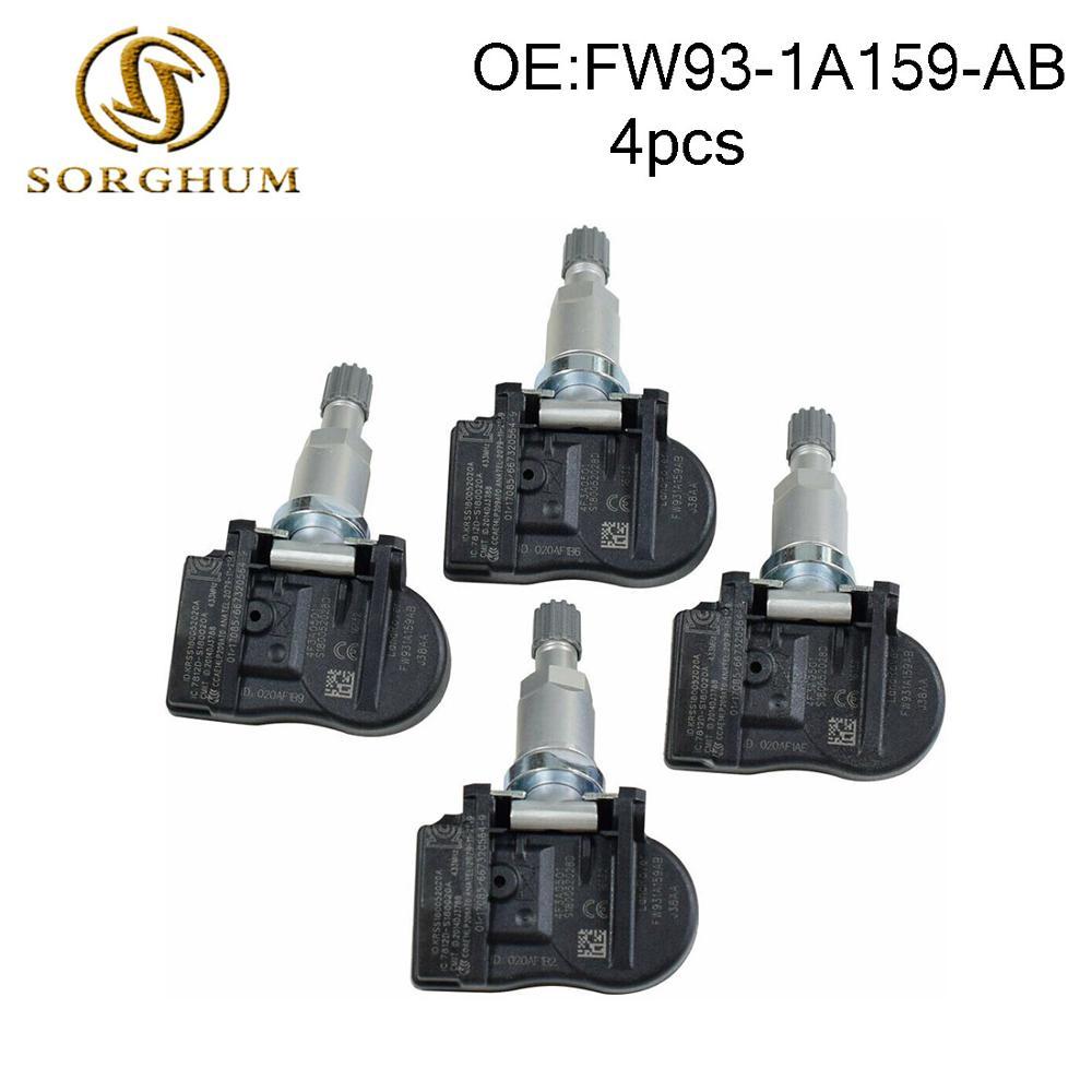 4PCS Wheel Sensor//Tyre Pressure Sensor TPMS 433MHz FW93-1A159-AB