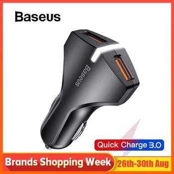 Baseus מהיר תשלום 3.0 מטען לרכב עבור סמסונג מהיר מטען QC 3.0 USB נייד טלפון מטען עבור Huawei Xiaomi מהיר טעינה